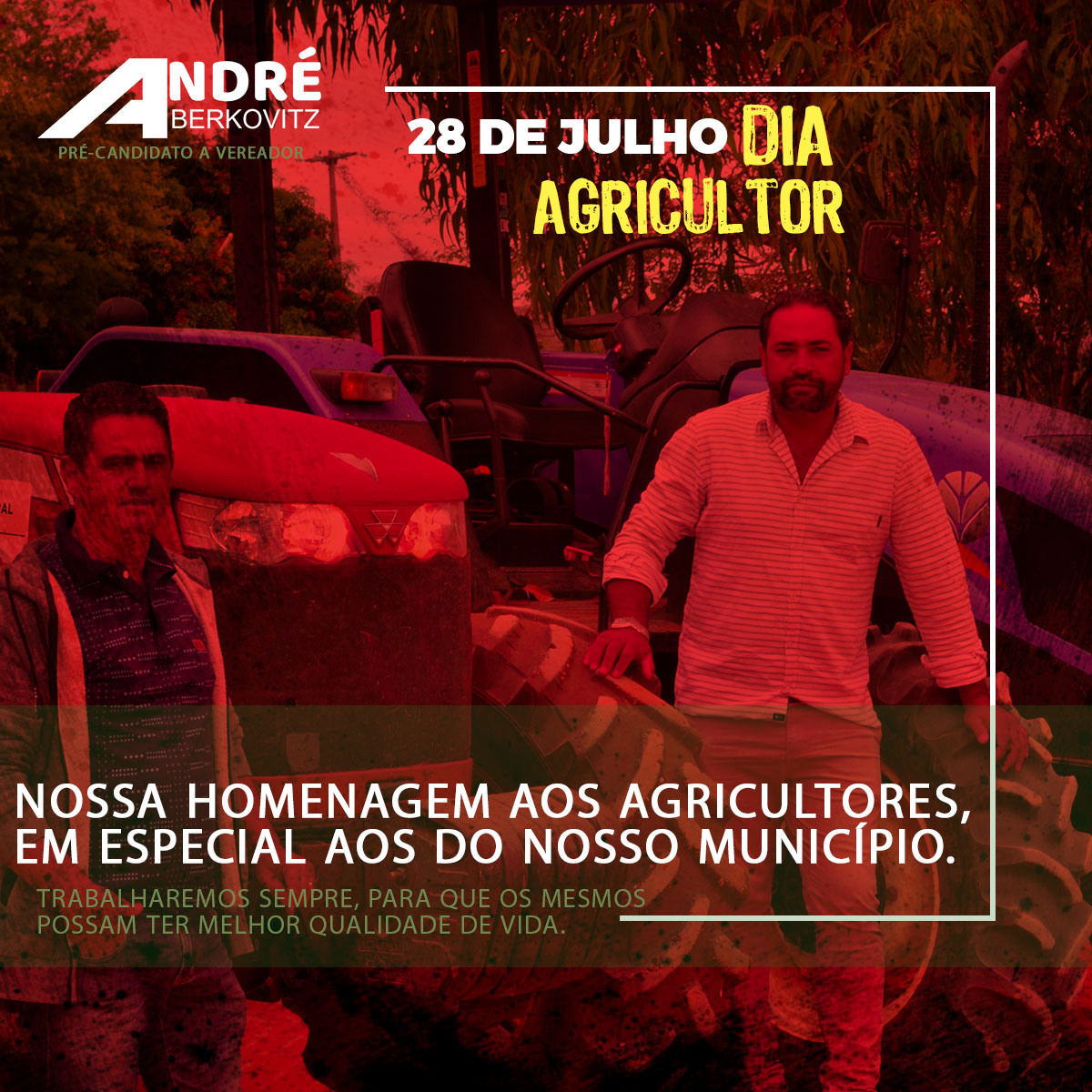 Homenagem do vereador André Berkovitz ao Dia do Agricultor